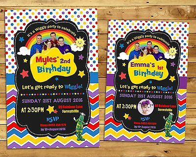 The Wiggles Personalised Invitation Invite Birthday Party Boy Girl Dorothy