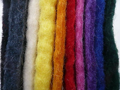 Heidifeathers 100% Wool Handmade Felted Squares Bundle - 10 Thick Squares