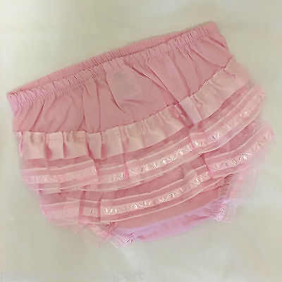 Baby Girl's Frilly Knickers Frills Cotton Frillies Frilled Pants Pink