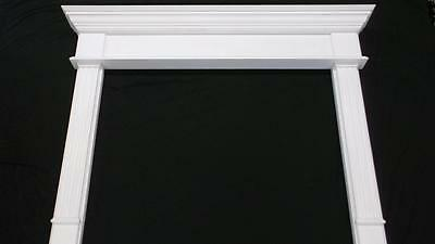 New Contractor Fireplace Mantel Surround for Wood / Gas Mantels Primer White
