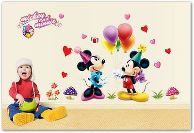 Vinilo Wall Stickers Mickey and minie Child Room 3D Decoration infantil  50x75cm