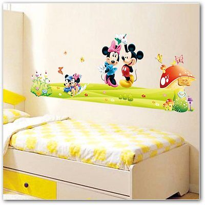 Vinilo  Minnie&Mickey Mouse Wall Stickers Baby Kids decoracion infantil