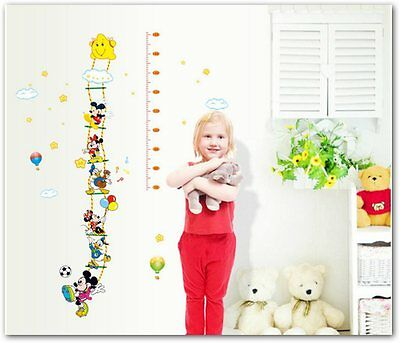 Mickey and Donald Duck home decor kid's child's height stature Wall Stickers