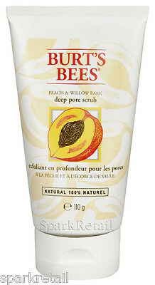 Burt's Bees Organic Peach & Willow Bark Deep Pore Scrub 110g Face Polish