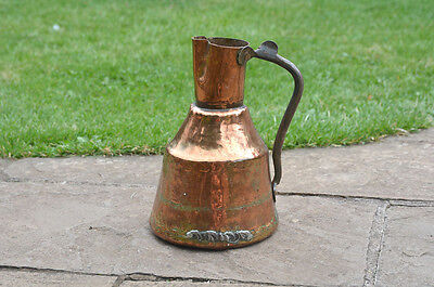antique copper jug old metal jug  pitcher can water container - FREE DELIVERY
