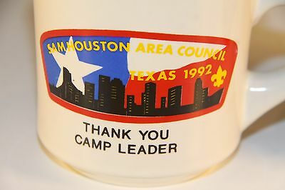 Cub Boy Scout Scouting Tea Coffee Mug Sam Houston Council Texas 1992 set of  two