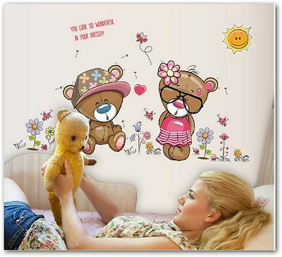 Bear Vinyl Wall Stickers For Kids Rooms Nursery Wall Decor Children's Room