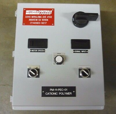 Motor Controller MM300 Series SCR Drives for DC Brush Motors Chem Feed 1/4HP
