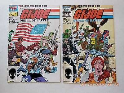 Marvel Comics Gijoe Order Of Battle #1 & 2 Comic Book Set!