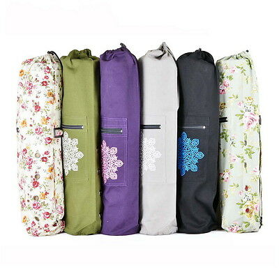 Cotton Yoga / Pilates HandBag Backpack Mat Bag with Carry Strap and Drawstring ,