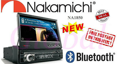 "Nakamichi 1Din 7"" Touch Screen Bluetooth CAR DVD CD MP3 Player GPS Ready NA1850"