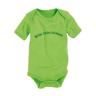 Schnizler Baby Bodysuit 1/4-Arm 'Please not kiss' Size can be selected