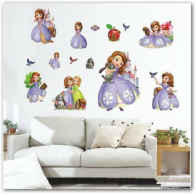 Vinilo Princess Sofia 3D DIY Wall Sticker for kids decoracion infantil