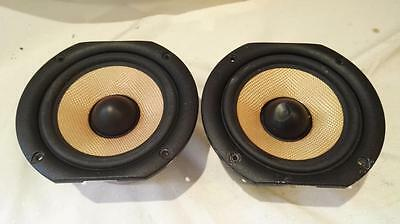Pair Of B&w Zz11681 Kevlar Cone Woofers From B&w Cc6 S2 Loudspeaker