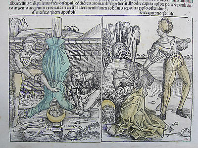 Incunable Leaf Schedel Liber Chronicorum Phoenix Martyr - 1493