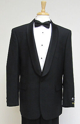 Mens  Wool blend One Button Single Breasted Shawl Collar Tuxedo-Reg,Shorts,Longs
