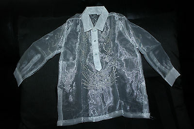 Barong Tagalog For Boys Pina Design Size 8  May Fit To 5-6 Years Old Boys