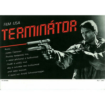 The Terminator Original Czech Film Movie Poster Lobby Card