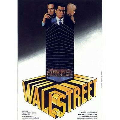 Wall Street Original Czech Film Movie Poster