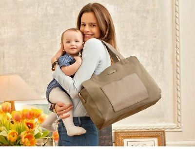 New Storksak Designer Nappy Juliette Unisex Moss Tote Changing Baby Diaper Bag +