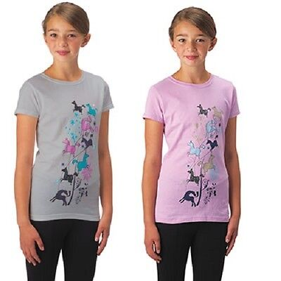 CLOSEOUT Kerrits Kid's Leaping Horse Tee Petal Large Regular $25