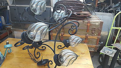 Wrought Iron CHANDELIER  Large
