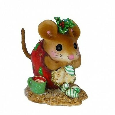 Wee Forest Folk NM-1a Christmas Nibble Mouse - Red
