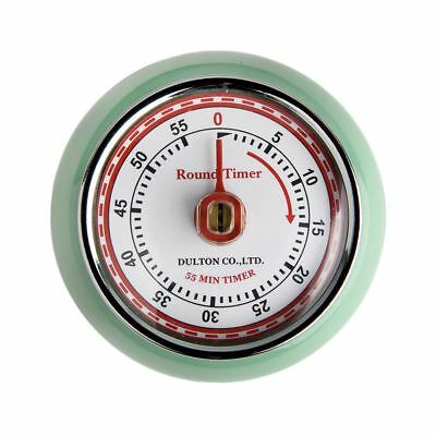 Eddingtons Magnetic Retro Style Kitchen Timer - Mint Green 55 min countdown