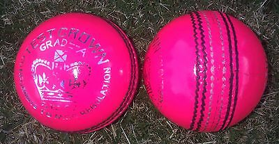 1x PINK Cougar 4 Piece Cricket Ball - 156g - NEW - Oz Stock