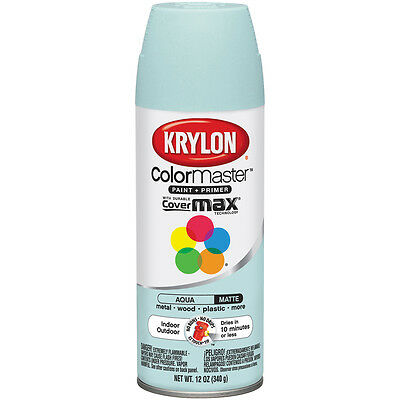 """Colormaster Indoor/Outdoor Aerosol Paint 12oz-Aqua, Set Of 2"""
