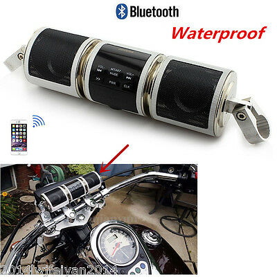 Waterproof Motorcycle Scooter Audio System Radio FM Bluetooth MP3 Player Speaker
