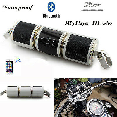 Motorcycle Audio Sound System Bluetooth MP3 FM Radio Stereo Speaker For Kawasaki