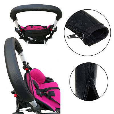 Baby Stroller Armrest Pu Protective Case Cover Handle Pram Stroller Accessories