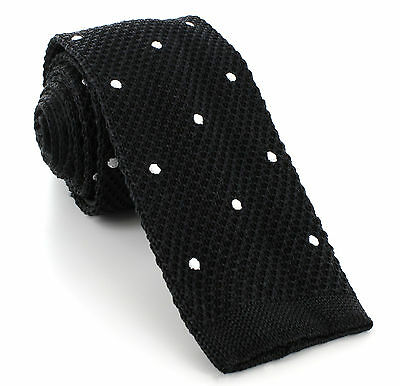 Michelsons UK - Silk Knitted Skinny Spot Ties