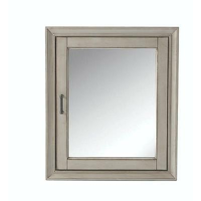 Hazelton  Surface-Mount Mirrored  Medicine Cabinet Antique Gray Organized New