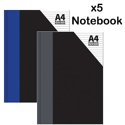 A4 Hardback Notebook rulled lined writting paper pad exercise book office school