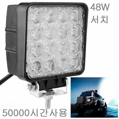 48W Bridgelux Search Light 4000lm 16 LEDs Over 50000 Hours of Usage Water-proof