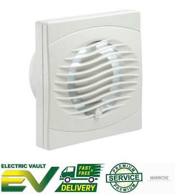 """Manrose Intervent Bathroom Extractor Fan Wall/Ceiling White 4"""" and 6"""" Range"""