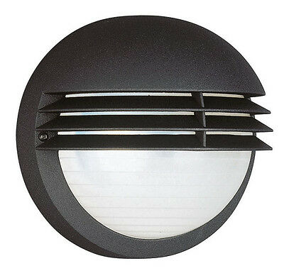 Massive Boston Outdoor Wall Light - Black (Requires 1 x 60W E27 Bulb)