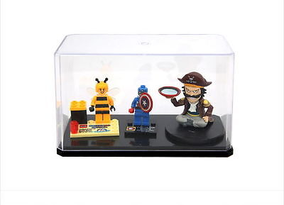 """6.7"""" Collectible Figure Collection Protective Case for Lego Clear Box Japan"""