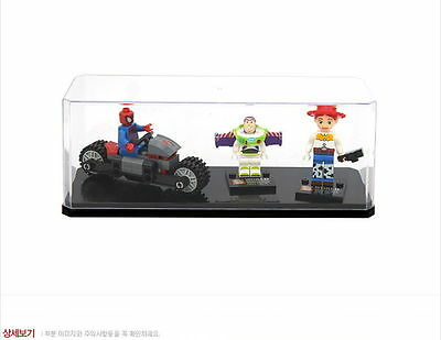 """8.3"""" Collectible Figure Collection Protective Case for Lego Clear Box Japan"""