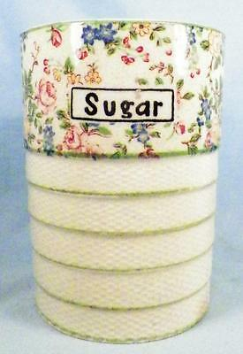 Vintage Sugar Canister Chintz Pattern Pottery Japan 1950s Base Only Flowers