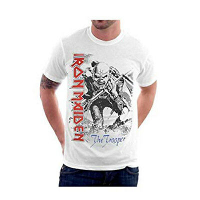 Official Iron Maiden - Oversized Trooper - Men's White T-Shirt