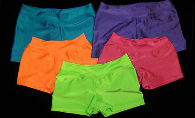 "Youth Neon Dance/gymnastics Shorts - 2"" Inseam"