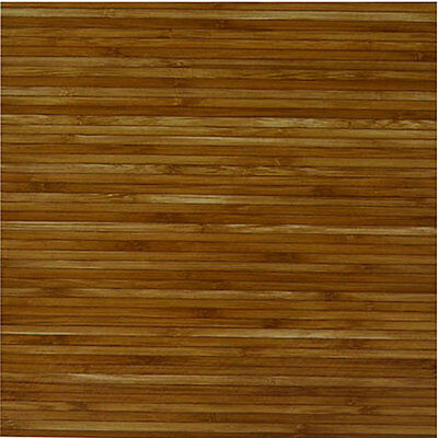 Wood Bamboo Vinyl Tile 40 Pc Adhesive Kitchen Flooring - Actual 12'' x 12''