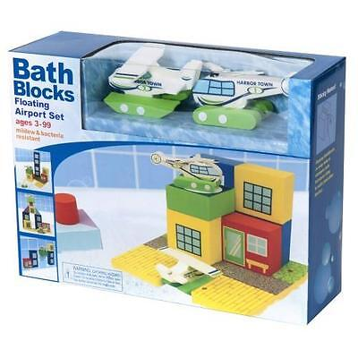 NEW Bath Blocks Floating Airport Set with Plane & Helicopter - Bath Toys