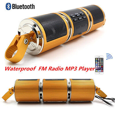 Wireless Bluetooth Motorcycle Waterproof Radio Audio Sound System Stereo Speaker
