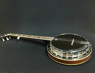 Caraya TWB USA5 5-String Black Top, Mahogany Resonator Banjo +Free Gig Bag