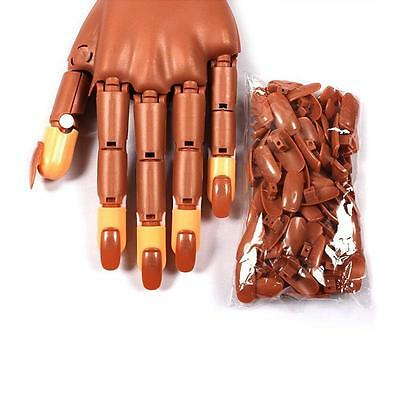 100pcs Nail Care Trainer Practice Flexible Finger Hand Refit with Refill Tips