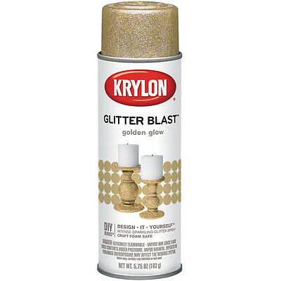 """Glitter Blast Aerosol Spray 5.75oz-Golden Glow, Set Of 2"""